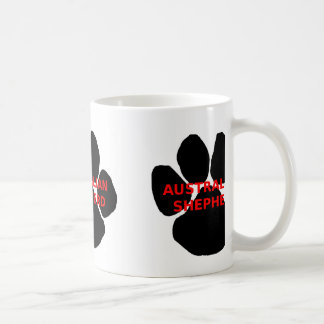 aussie name paw coffee mug