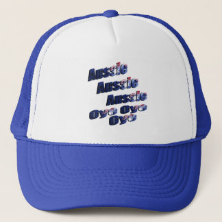 Aussie Oye Picture Logo, Blue Trucker Hat