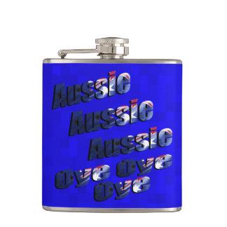 Aussie Oye Picture Logo, Hip Flask