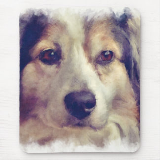 Aussie Pet Dog Painterly Effect Mouse Pad