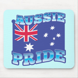 AUSSIE PRIDE with an Australian Flag Mouse Pad