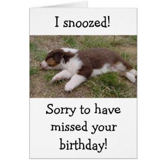 aussie puppy sleeping card
