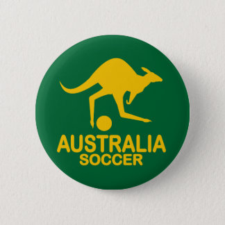 Aussie soccer yellow 2 inch round button