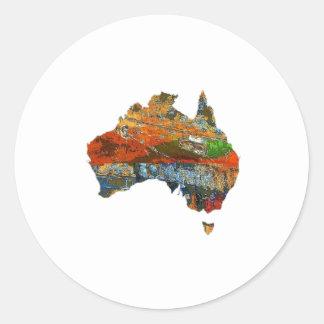 Aussie Time Classic Round Sticker