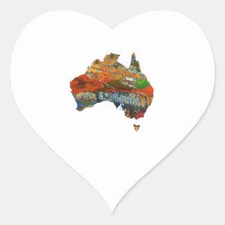Aussie Time Heart Sticker