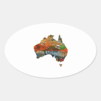 Aussie Time Oval Sticker
