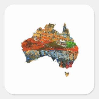Aussie Time Square Sticker