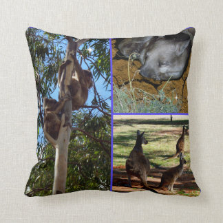 Aussie Wild Animals Photo Collage, Throw Pillow