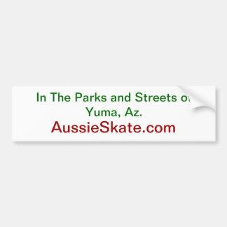 AussieSkate bumper sticker