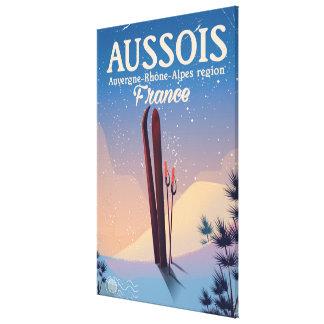Aussois Auvergne-Rhône-Alpes France ski poster Canvas Print