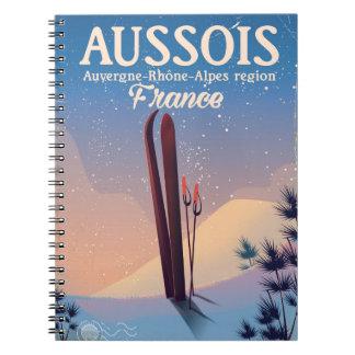 Aussois Auvergne-Rhône-Alpes France ski poster Notebook