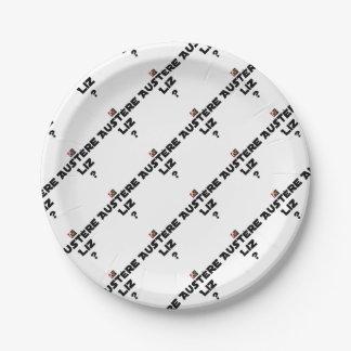 AUSTERE LIZ - Word games - François City Paper Plate
