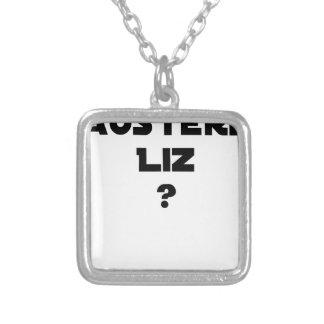 AUSTERE LIZ - Word games - François City Silver Plated Necklace