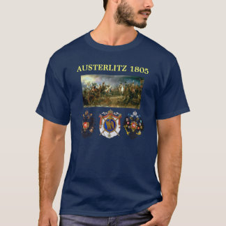 Austerlitz coat of arms with battle map T-Shirt