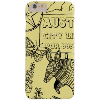 Austin Armadillo Line Art Design Barely There iPhone 6 Plus Case