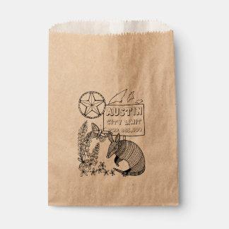 Austin Armadillo Line Art Design Favour Bag