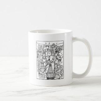 Austin Birthday Line Art Design Coffee Mug