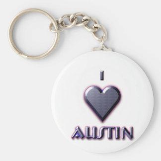 Austin -- Blue with glow Keychain