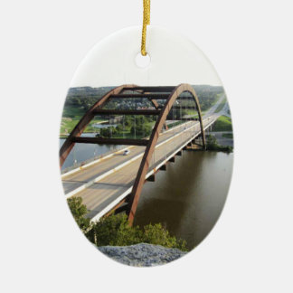 Austin Bridge Ceramic Ornament