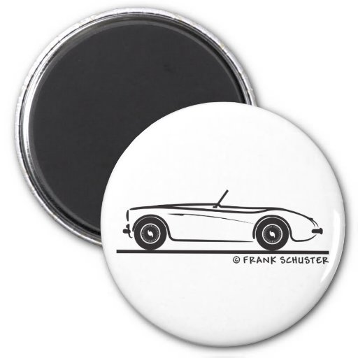 Austin Healey 100 Fridge Magnet