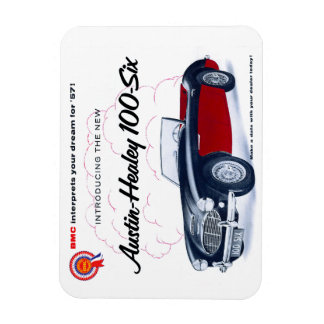 Austin Healey 100 Rectangle Magnets