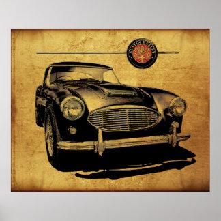 Austin Healey 3000 Black Poster