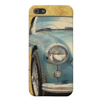 Austin Healey 3000 blue on white iPhone 5 Covers