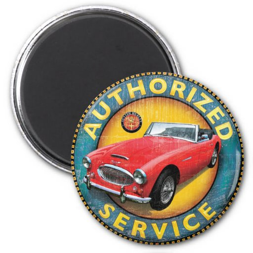 Austin Healey 3000 Fridge Magnet