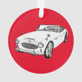 Austin Healey 300 Classic Sports Car Illustration Ornament