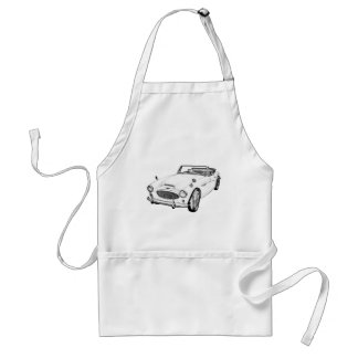 Austin Healey 300 Sports Car Illustration Standard Apron