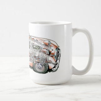Austin Healey bugeye cutaway drawing Coffee Mug