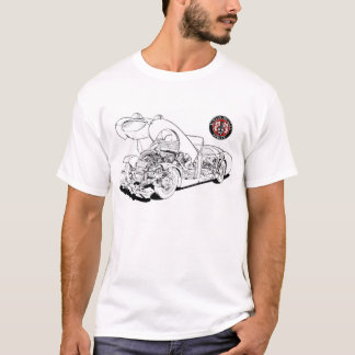 Austin Healey Bugeye Frogeye Car 1958 Hiking Duck T-Shirt