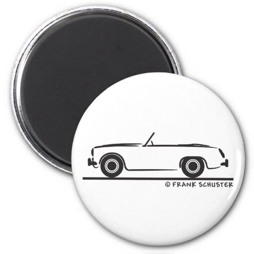 Austin Healey  Sprite MK II Fridge Magnet