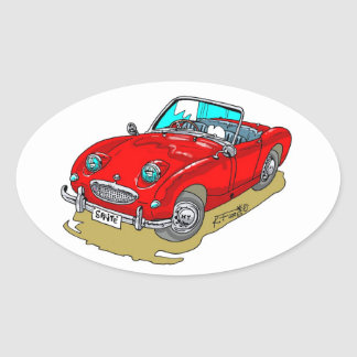 Austin-Healey Sprite Oval Sticker