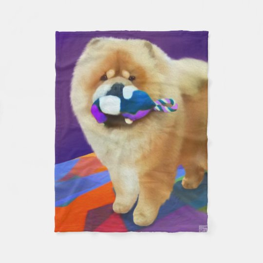 AUSTIN heartdog chow SMALL fleece blanket