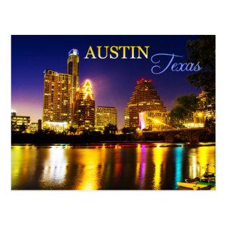 Austin horizon du Texas la nuit Carte Postale