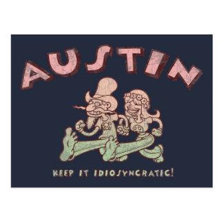 Austin Idiosyncratic Postcard