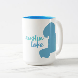 Austin Lake, Portage, Michigan Two-Tone Coffee Mug