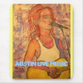 Austin Live Music Girl Mouse Pad
