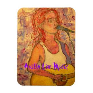 Austin Live Music Girl Rectangular Photo Magnet