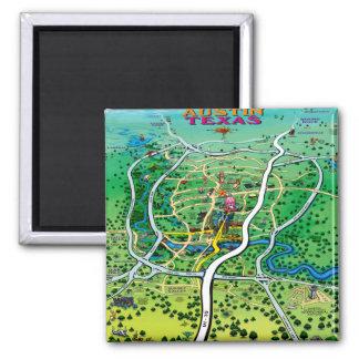 Austin Map Fridge Magnets