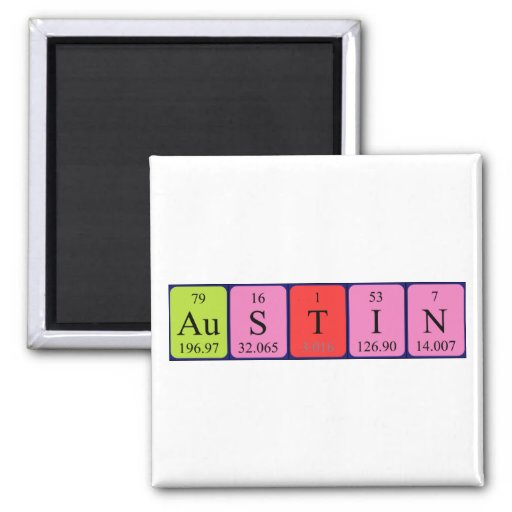Austin periodic table name magnet