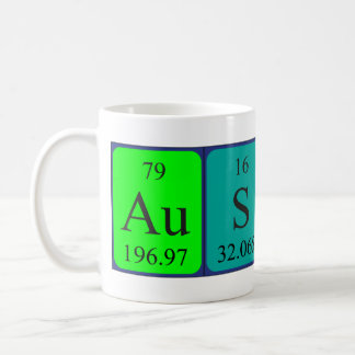 Austin periodic table name mug