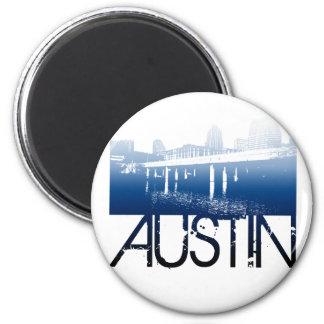 Austin Skyline Design 2 Inch Round Magnet