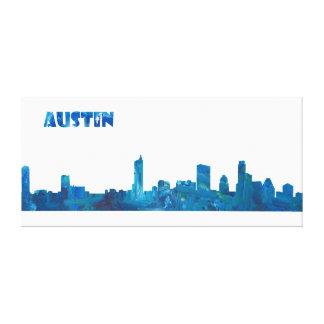 Austin Skyline in Clean Scissor Cut Style Canvas Print