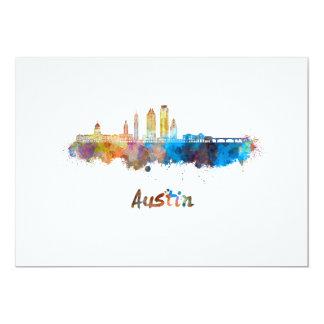 Austin skyline in watercolor card