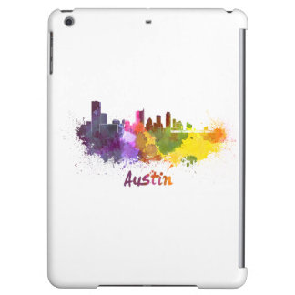 Austin skyline in watercolor case for iPad air