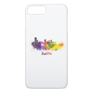 Austin skyline in watercolor iPhone 8 plus/7 plus case
