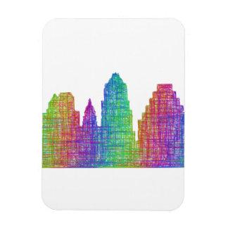 Austin skyline rectangular photo magnet