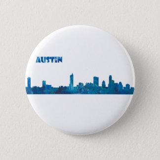 Austin Skyline Silhouette 2 Inch Round Button